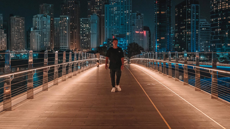 Niklas Pedde Dubai Blue Waters Bridge Skyline scaled 1